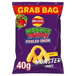 Walkers Monster Munch Pickled Onion Snacks 40g