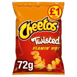 Cheetos Twisted Flamin Hot Snacks £1 PMP 72g