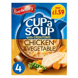 Batchelors Cup a Soup Chicken & Vegetable with Croutons 4 Sachets 110g