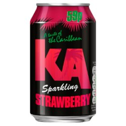 KA Sparkling Strawberry 330ml Can, PMP 59p