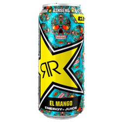 Rockstar Baja Juiced Mango Energy Drink 500ml Can, PMP £1.29