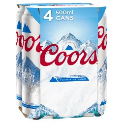 Coors Light Lager 4 x 500ml