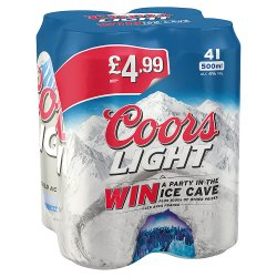 Coors Light PM 4 For GBP4.99