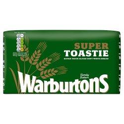 Warburtons Super Toastie Extra Thick Sliced Soft White Bread 800g