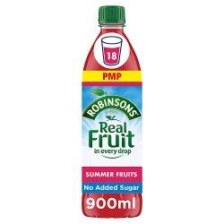 Robinsons Summer Fruits No Added Sugar Squash PMP 900ml