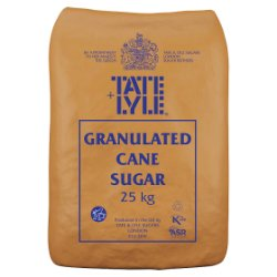 Tate & Lyle Granulated Cane Sugar 25kg