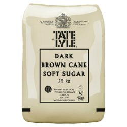 Tate & Lyle Dark Brown Cane Soft Sugar 25kg