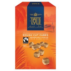Tate & Lyle Fairtrade Cane Sugar Demerara Rough Cut Unrefined Sugar Cubes 1kg