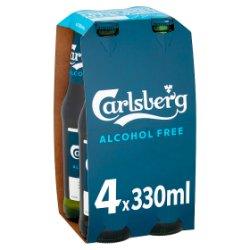 Carlsberg Alcohol Free Lager Beer 4 x 330ml