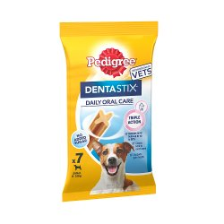 Pedigree Dentastix Daily Adult 1+ Small Dental Dog Chews 7 Sticks 110g