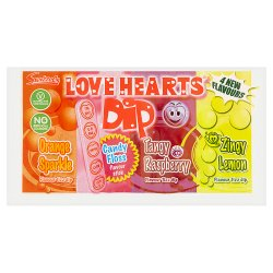 Swizzels Love Hearts Dip Candy Floss Flavour Stick
