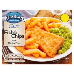 Kershaws Classic Fish & Chips with Mushy Peas 400g