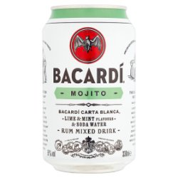 Bacardi Mojito Rum Mixed Drink 330ml