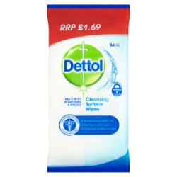 Dettol Anti-Bacterial Cleansing Surface Wipes 36 Large Wipes