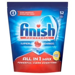 Finish Powerball All in 1 Max Lemon Sparkle Dishwasher Tablets 977g = 52s