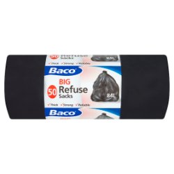 Baco 50 Big Refuse Sacks 84L