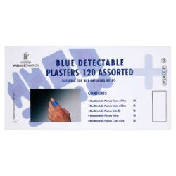 Wallace Cameron Blue Detectable Plasters 120 Assorted