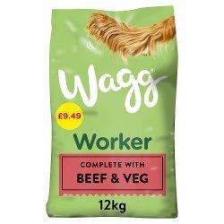 Wagg Worker Rich in Beef with Veg & Tasty Gravy 12kg