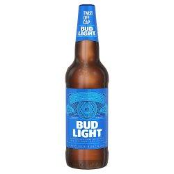 Bud Light Lager Beer Bottle 660ml