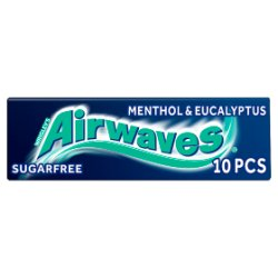 Wrigleys Airwaves Menthol And Eucalyptus 10pce