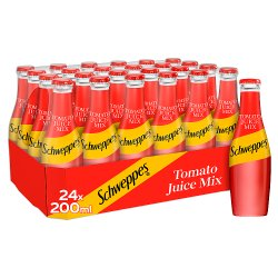 Schweppes Tomato Juice Mix 24 x 200ml Glass
