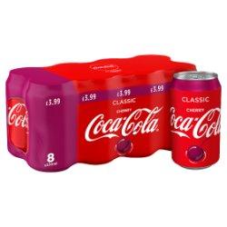 Coca-Cola Classic Cherry 8 x 330ml PMP £3.99