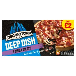 Chicago Town 2 Deep Dish Mega Meaty Pizzas 320g (PMP)