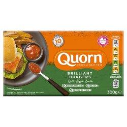 Quorn Brilliant Burgers 300g