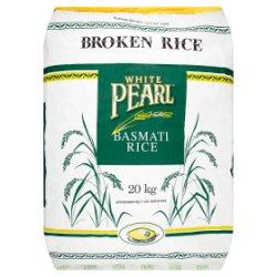 White Pearl Broken Rice Basmati Rice 20kg