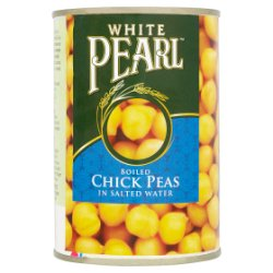 White Pearl Boiled Chick Peas in Salted Water 400g