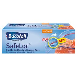 Bacofoil Double-Seal SafeLoc Food and Freezer Bags 20 Small