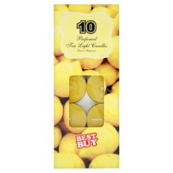 Best Buy 10 Perfumed Tea Light Candles Lemon Fragrance