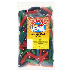 Buddies Mini Assorted Pencils Fruit Flavoured Sweets 2kg