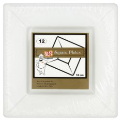Best Buy 12 Square Plates White 18cm