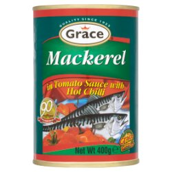 Grace Mackerel in Tomato Sauce with Hot Chilli 400g