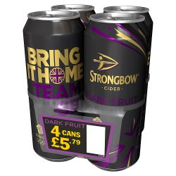 Strongbow Dark Fruit 4 For GBP5.79