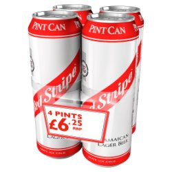 Red Stripe Jamaican Lager Beer 4 x 568ml Can
