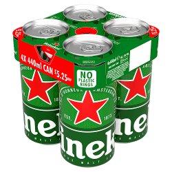 Heineken Lager Beer 4 x 440ml Can