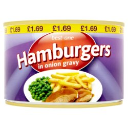Best-One Hamburgers in Onion Gravy 425g