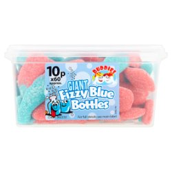 Buddies Giant Fizzy Blue Bottles Fruit Flavour Sweets