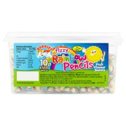 Buddies Fizzy Rainbow Pencils Fruit Flavour Sweets