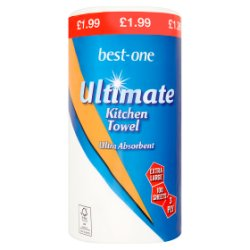 Best-One Ultimate Kitchen Towel 3 Ply 100 Sheets