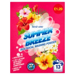 Best-One Summer Breeze Biological Washing Powder 884g