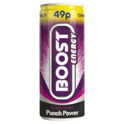 Boost Energy Sugar Free Punch Power 250ml