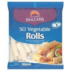 Shazans 50 Vegetable Rolls 1650g