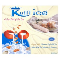 Kulfi Ice Original Malai Flavoured Kulfi Milk Ice Lollies with Real Almonds & Pistachios 5 x 70ml