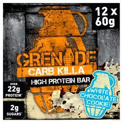Grenade Carb Killa High Protein Bar White Chocolate Cookie 12 x 60g