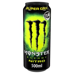 Monster Nitro Super Dry Energy Drink 12 x 500ml PM £1.45