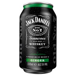 Jack Daniel's Tennessee Whiskey & Ginger 330ml Can