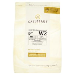Callebaut Finest Belgian Chocolate White Callets 2.5kg